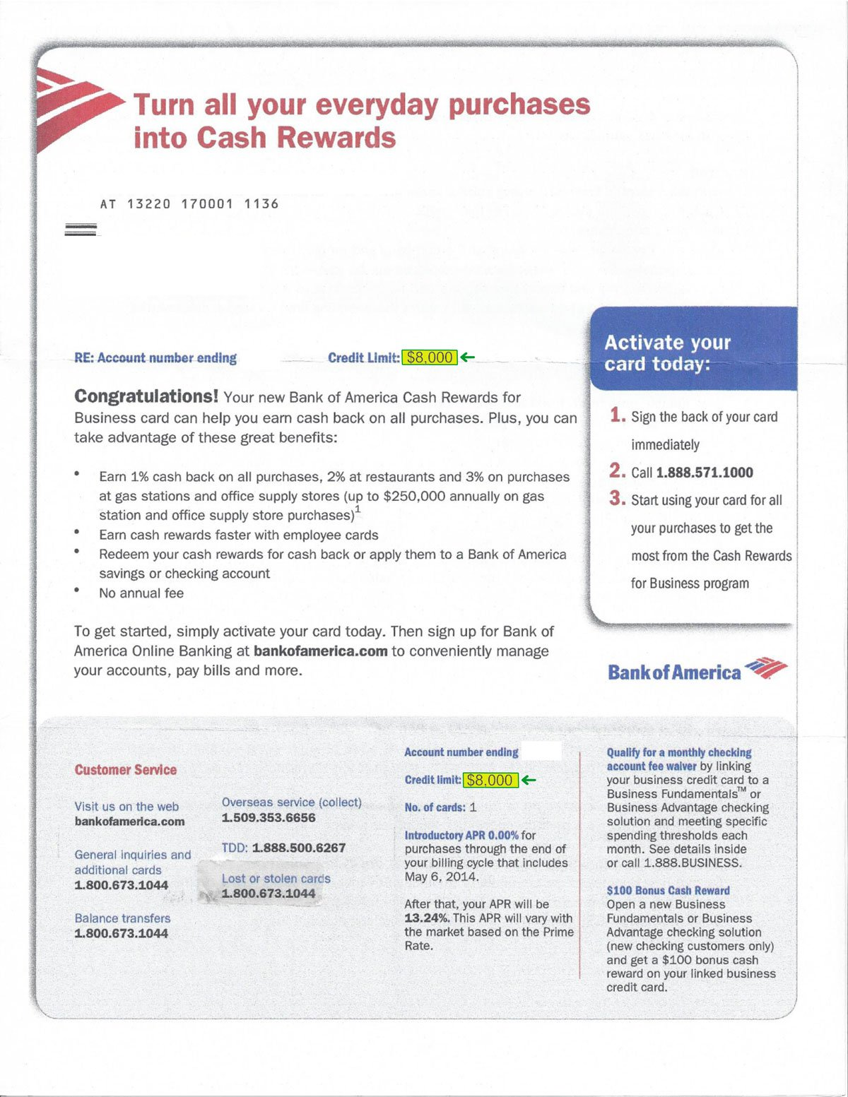 Double Gs Bank of America approval ltr Highlight - Legit