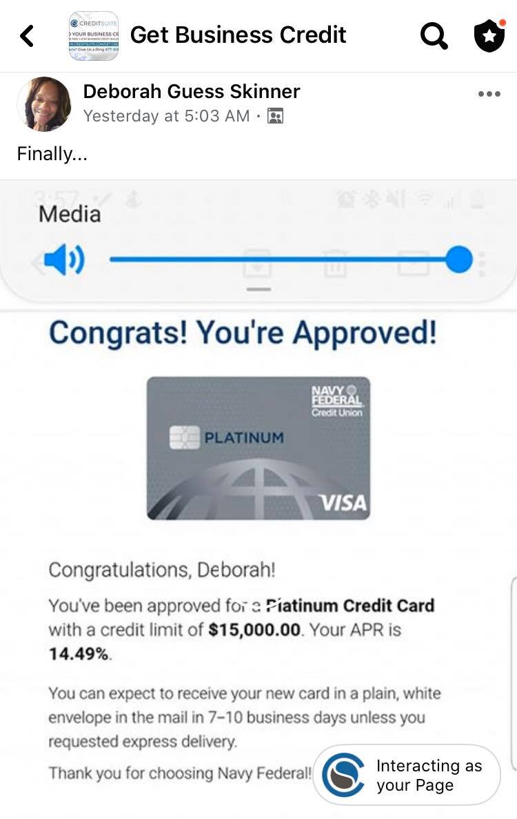 Platinum 15K Credit Suite - Business Credit Results